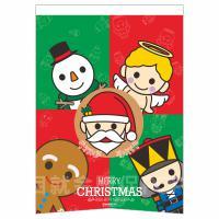 可愛耶誕雙面紙旗 A3